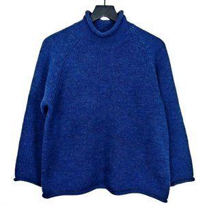 Vtg J.Crew Wool Knit Turtleneck Pullover Sweater